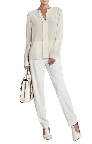 Tuxedo-Inspired Suit Look One: Drake Zipper Pocked Relaxed Trouser (corresponding to third look — black tie), BCBGMaxAzria, $138, Miracle Mile Shops