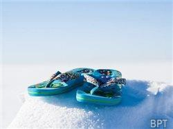 Flip-flops and snow don't mix: Winter foot-health advice