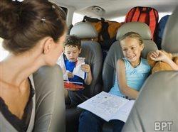 Healthy happy family travel