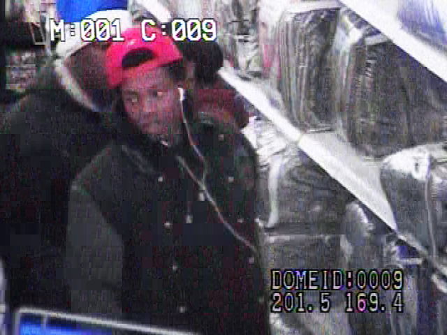 Police are looking for two men and a woman in connection with the robbery of a business in the 200 block of North Nellis Boulevard on Dec. 6. (LVMPD)