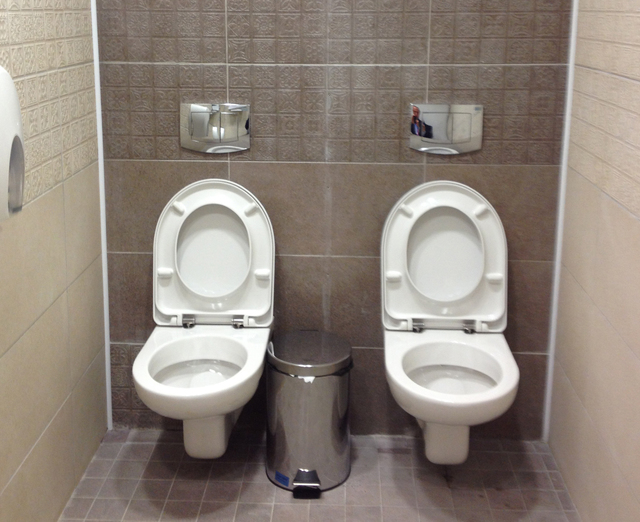two in one toilet seat. 17  2014 shows two toilets at the Twin Tandem stall Sochi Olympics goes viral Las