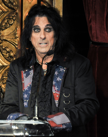 Alice Cooper attends the Motley Crue Press Conference, Tuesday, Jan. 28, 2014, in Los Angeles. The heavy-metal band says it will retire after performing 72 goodbye concerts. The band made the anno ...