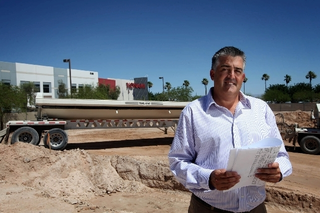 Thomas Jingoli, senior vice president and chief compliance officer at Konami Gaming Inc., is seen in June at the site of the company's expansion of its North American headquarters in Las Vegas. I ...