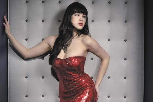 """Claire Sinclair has signed a contract for a second year in the Stratosphere's """"Pin Up"""" show. (Courtesy)"""