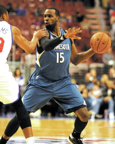 Minnesota Timberwolves' Shabazz Muhammad plays against the Philadelphia 76ers during a preseason NBA basketball game, Wednesday, Oct. 23, 2013, in Philadelphia. (AP Photo/Laurence Kesterson)