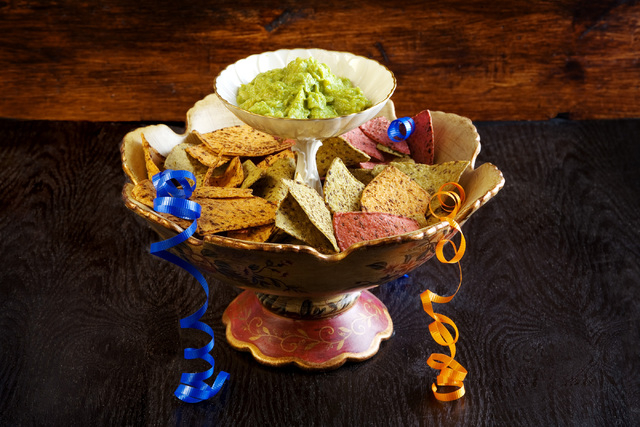 Guacamole and chips make a perfect, and simple, Super Bowl snack. (Jeferson Applegate/Las Vegas Review-Journal)