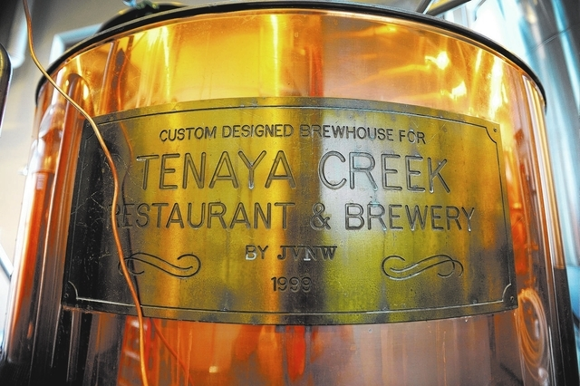 Tenaya Creek is one of two local craft beers that will flow Saturday at the Thomas & Mack Center.(David Becker/Las Vegas Review-Journal)