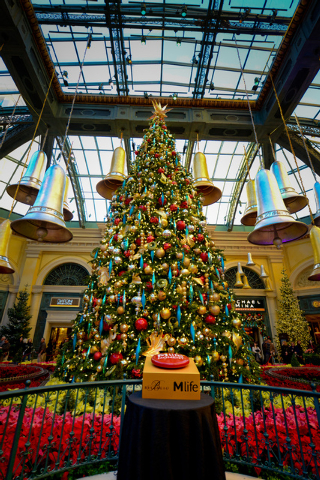 Bellagio Conservatory's holiday display ends Sunday. (Courtesy)