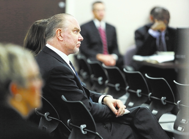 Lee Amaitis, president and CEO of Cantor Gaming, attends a Nevada Gaming Commission hearing at the Grant Sawyer Building Thursday, Jan. 23, 2014, in Las Vegas. Nevada Gaming Commission discussed t ...