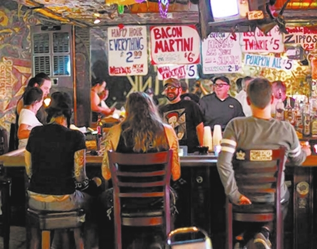 The Double Down Saloon hosts Riotgun at 10 p.m. Friday. (Chase Stevens/Las Vegas Review-Journal File)