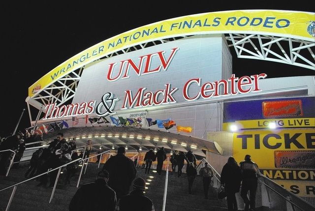 The NFR will remain in Las Vegas through 2024 (Neal Reid/Special to the Las Vegas Review-Journal)