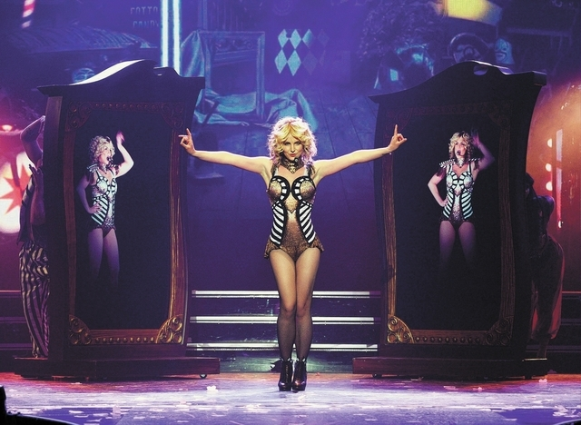 """Britney Spears performs last week during the debut of her """"Piece of Me""""' residency at Planet Hollywood. (Denise Truscello/Las Vegas Review-Journal)"""