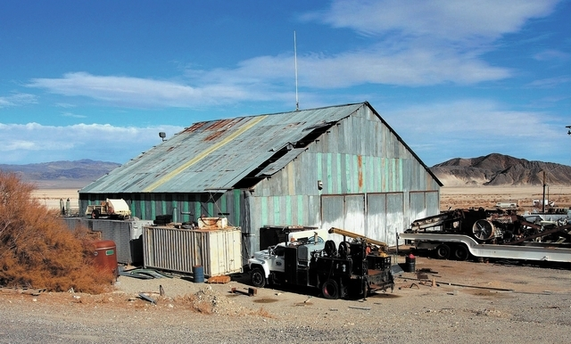 Locals in Silver Peak, Nev., say that the wallet and keys of murder victim Charles Kinkel III were found behind this building in Silver Peak, seen Tuesday, Dec. 31, 2013. Colman Ward has been arra ...
