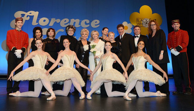 Florence Henderson, center with flowers, was honored Saturday as the Nevada Ballet Theater's Woman of the Year. (Courtesy)