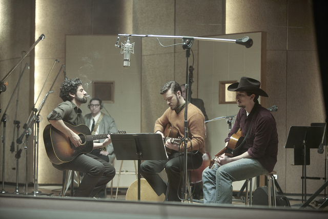 "Oscar Isaac, Justin Timberlake and Adam Driver, left to right, perform in ""Inside Llewyn Davis."" (ALISON ROSA/LONG STRANGE TRIP LLC)"