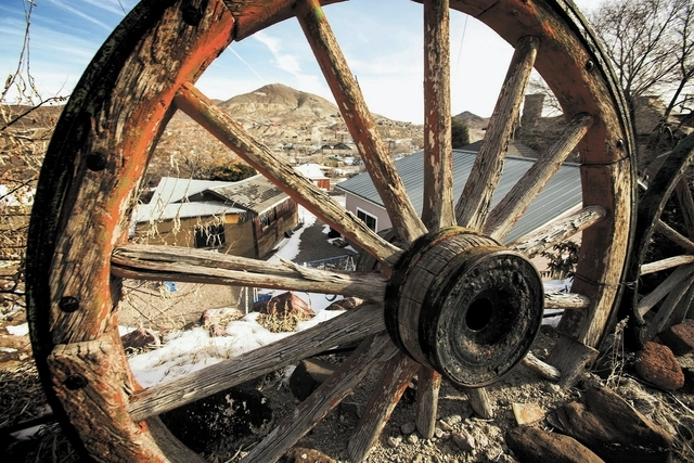 Tonopah, Nev. as seen on Tuesday, Dec. 17, 2013. The historic mining town is booming with mining operations and the Crescent Dunes Solar Energy Project. Transportation officials are proposing Inte ...