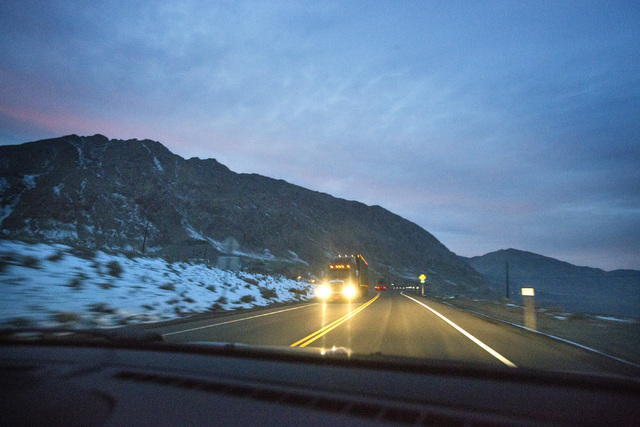 U.S. 95 near Walker Lake located north of Hawthorne, Nev. as seen  on Tuesday, Dec. 17, 2013. Transportation officials are proposing Interstate 11 to connect Las Vegas and Reno.(Jeff Scheid/Las Ve ...