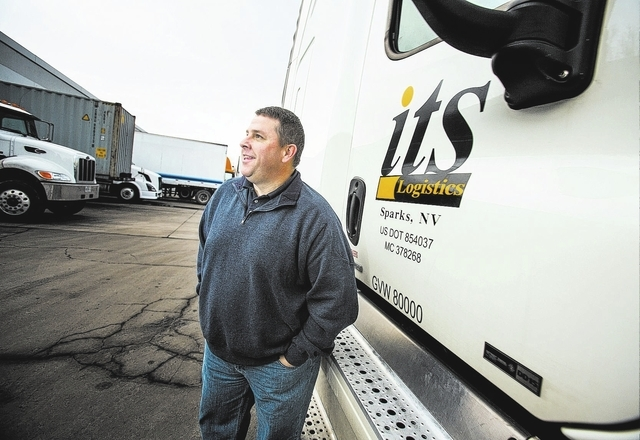 An image of Jeff Lynch, president and chief executive officer of ITS Logistics, outside the company's headquarters at  620 Spice Island Drive in Sparks,Nev. on Thursday, Dec. 18, 2013. The Sparks  ...
