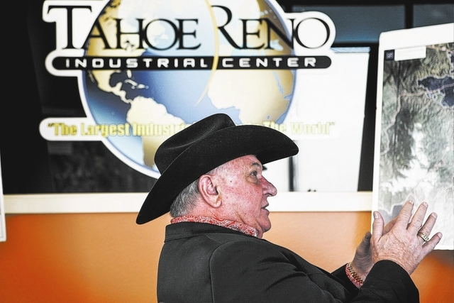 Real estate broker  L. Lance Gilman managing partner with Tahoe-Reno Industrial Center  in his office at McCarran, Nev. on Thursday, Dec. 19, 2013. The  107,000-acre former ranch property  is loca ...