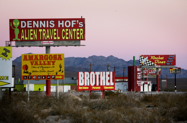 Lathrop Wells on U.S. 95 , about 90 miles north from Las Vegas,  as seen on Friday, Dec. 20, 2013. Transportation officials are proposing Interstate 11 to connect Las Vegas and Reno.(Jeff Scheid/L ...