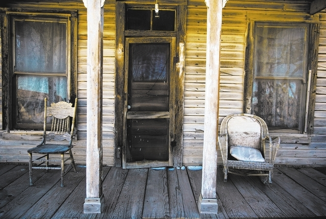 A building as seen Friday, Dec. 20, 2013 in Goldfield, Nev.  The history building was built in 1908.Transportation officials are proposing Interstate 11 to connect Las Vegas and Reno.(Jeff Scheid/ ...