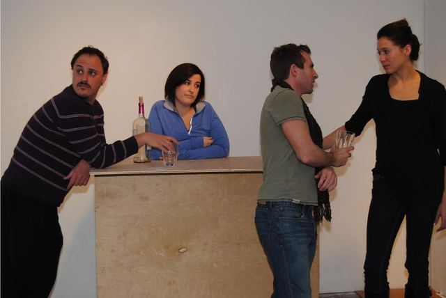 """Steve Martin's comedy """"Picasso at the Lapin Agile"""" opens Friday at the Onyx Theatre. Pictured from left to right: Shane Scott Sather, Rebecca Kernes, Michael Forsch and Katrina Currow."""