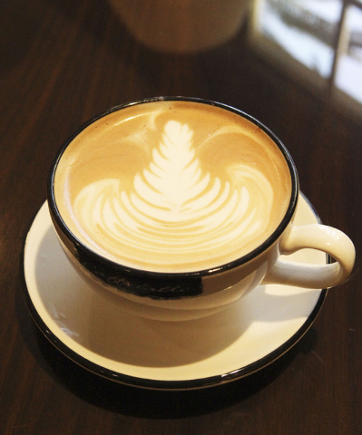 Pictured is a latte prepared by Wendy Larson, a barista at the Four Seasons in Las Vegas, Wednesday, Jan. 8, 2014. (Jerry Henkel/Las Vegas Review-Journal)