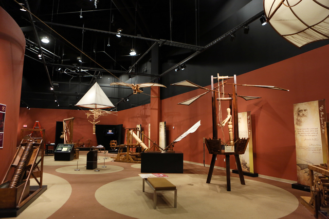 """The """"Leonardo Da Vinci: Machines in Motion"""" exhibit is shown at Springs Preserve Thursday, Jan. 23, 2014, in Las Vegas. The exhibit, which is located in the Origen Museum at Springs Pres ..."""