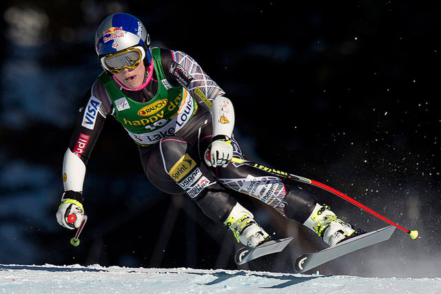Lindsey Vonn races during the women's World Cup super-G skiing event on Dec. 8 at Lake Louise, Alberta, Canada. Vonn is going to skip the Sochi Olympics because of a right knee injury. Her persona ...