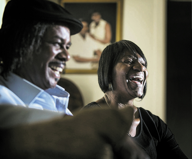 Lorrine Rodgers,right, her husband Nelson  sit in their   Las Vegas living room on Friday, Jan. 3, 2014. They have been married for 43 years. She had breast cancer that came back in her lungs, but ...