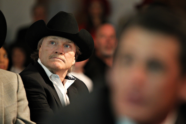 Las Vegas Events President Pat Christenson attends a meeting of the Las Vegas Convention and Visitors Authority where the LVCVA approved a deal to keep the National Finals Rodeo in Las Vegas durin ...