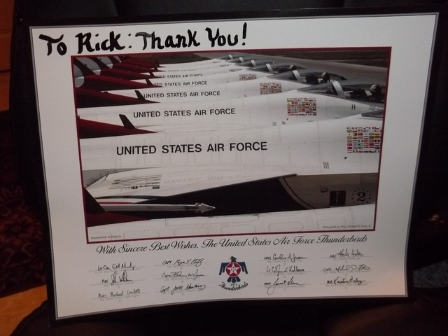 Photo presented to Rick. (Courtesy Gina Sartor)