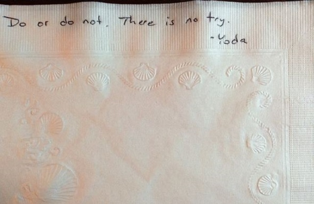 Garth Callaghan writes an inspirational note on a napkin every day for his daughter's lunch. He says the notes have taken on special meaning due to the three cancer diagnoses he's had since 2011.  ...