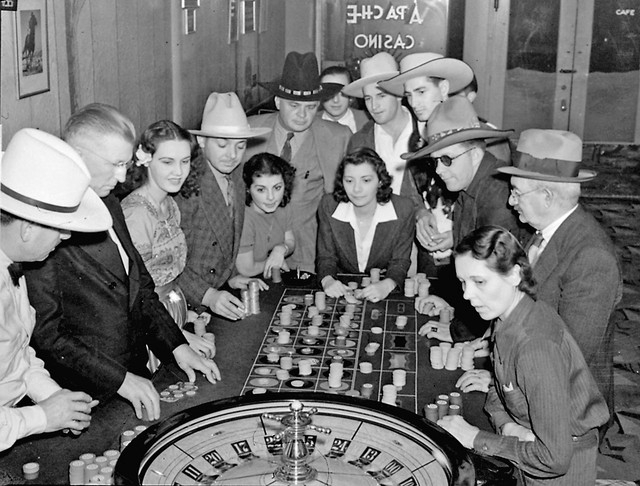 Roulette and other forms of placing a wager are legal in Nevada and divorce-seekers who throng to Las Vegas to take advantage of the six weeks residence law find that time passes quickly at the ga ...