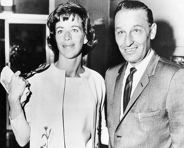 Comedienne Carol Burnett leaves court in Las Vegas, Nevada, September 25, 1962 with attorney Harry Claiborne after receiving a divorce from actor Don Saroyan. The couple, married in 1955, had been ...