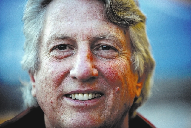 Former Olympian high jumper Dick Fosbury poses for a portrait at the Road to Sochi Tour at The Orleans in Las Vegas Saturday, Jan. 18, 2014. (John Locher/Las Vegas Review-Journal)