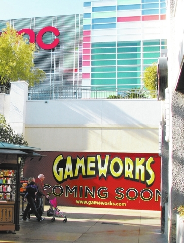 GameWorks is one of several businesses slated to open in early 2014 at Town Square Las Vegas, 6605 Las Vegas Blvd. South. (F. Andrew Taylor/View)