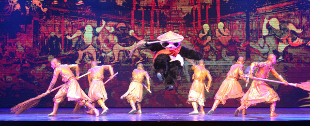 "Actors perform during a preview of ""Panda!"" in the Palazzo Theater in the Palazzo hotel-casino in Las Vegas, Friday, Jan. 3, 2014. The show is set to open on Jan. 7. (Jerry Henkel/Las Ve ..."