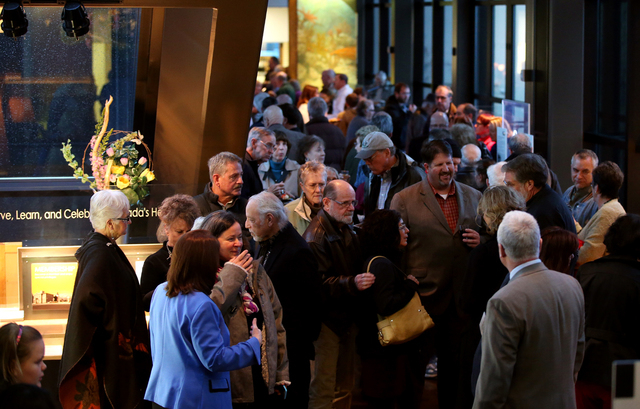 "Nearly 500 people attended the grand opening event for the ""Finding Fremont: Pathfinder of the West"" exhibit at the Nevada State Museum, in Carson City, Nev., on Wednesday, Jan. 29, 2014 ..."