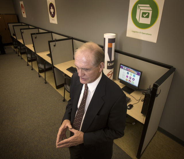 Tom Axtell, general manager of Vegas PBS,  stands Tuesday in the new community computer lab that is opening at Vegas PBS at 3050 E. Flamingo Road. The station is positioning itself as digital medi ...