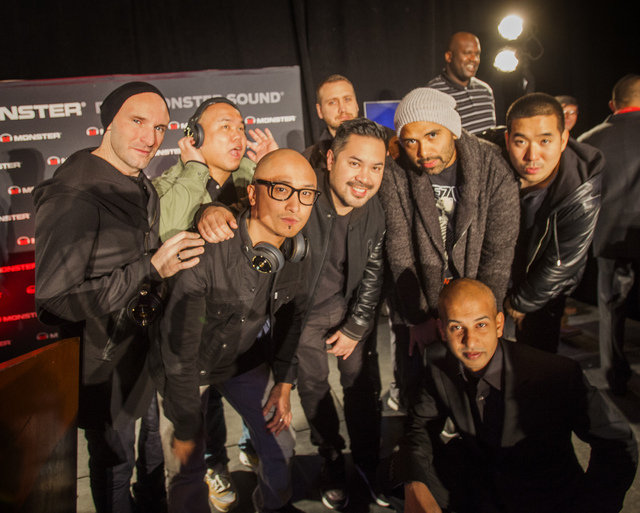 Las Vegas DJ's in the skam artist group teamed up with Monster to promote DJ headphones during CES International Press Day at Mandalay Bay Convention Center on Monday. (Jeff Scheid/Las Vegas Revie ...