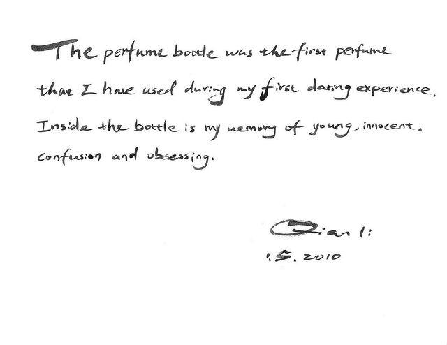 "Handwritten notes from the photo subjects accompany the ""Precious Objects"" portraits. (Courtesy)"