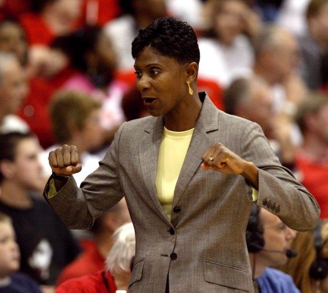 Former UNLV women's basketball coach Regina Miller. (File, Las Vegas Review-Journal)