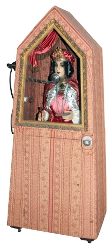 Esmeralda, the vintage fortune teller, will nod, turn her head, move her jaws and hands and even blink. An Esmeralda machine was offered at two different 2013 auctions, but she did not attract a h ...
