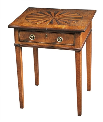 Cowles Syndicate This Federal worktable probably was made in the early 19th century in Vermont. It sold for $3,900 at a Skinner auction in Boston in October 2013.