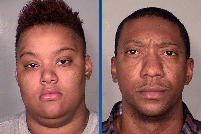 Merritt-Burwell, left, and Joshua Youngblood. (Courtesy, Las Vegas Metropolitan Police Department)