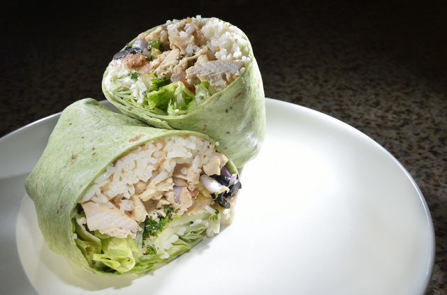 Zikiz allows diners to choose the combination of protein and fillings they want in their wraps. (Bill Hughes/Las Vegas Review-Journal)