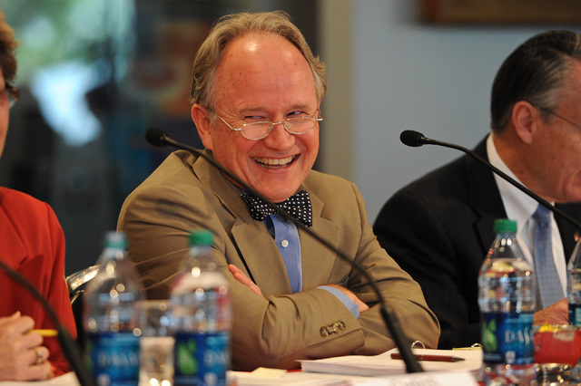 NHSE Board of Regents member Michael Wixom is seen at a UNLV stadium board meeting on campus at the Si Redd Room in Las Vegas Monday, Oct. 7, 2013. (David Cleveland/Las Vegas Review-Journal)