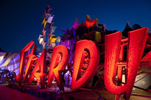 "The Neon Museum's free ""Stars and Stardust"" program will enable amateur astronomers to gaze at the stars from the boneyard's event area. (Courtesy)"