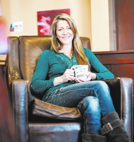 Holley Steeley, owner of Holley's Cuppa, poses for a portrait at the coffee shop, located at 9265 S. Cimarron Road in Las Vegas on Friday, Dec. 27, 2013. (Chase Stevens/View)
